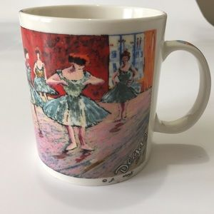 Chaleur Edgar Degas Ballerinas Red Room Mug 14 oz